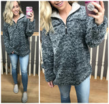 Sherpa Fleece Pullover - Madison + Mallory