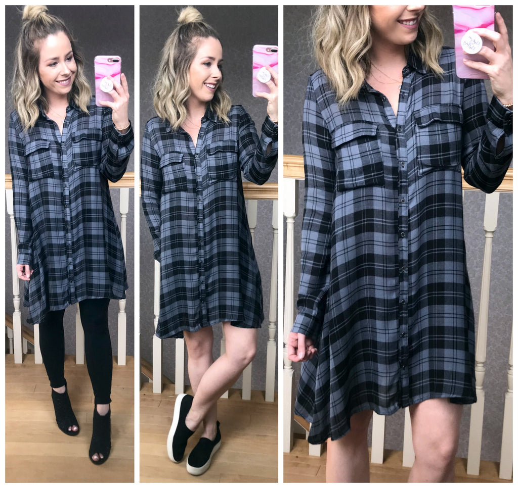 Tide is High Plaid Dress - Madison + Mallory