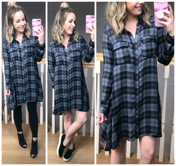 Tide is High Plaid Dress - FINAL SALE - Madison + Mallory