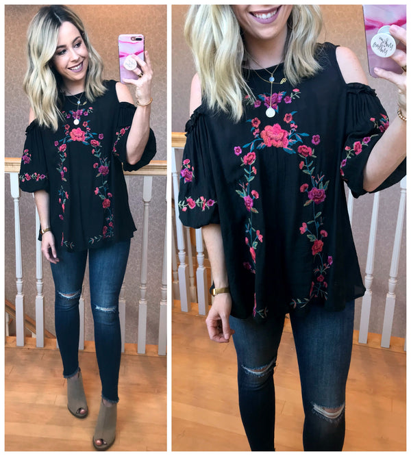 Ariella Floral Top - Madison + Mallory