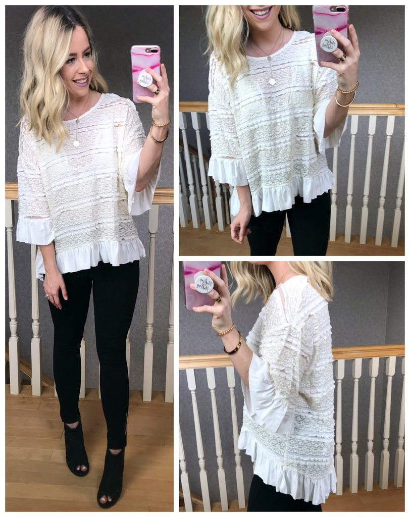S / Natural Marianna Top - Madison + Mallory