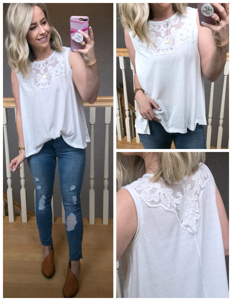Dayanna Lace Tank Top - Madison + Mallory