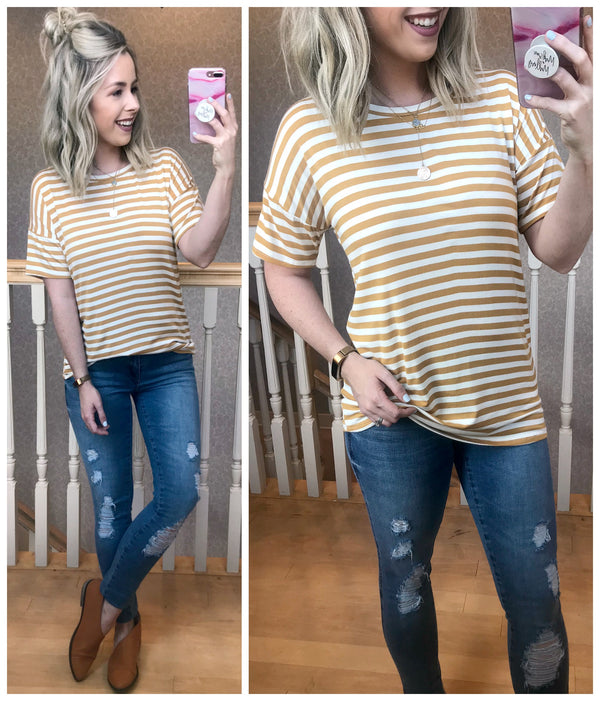 Amina Striped Top - Madison + Mallory
