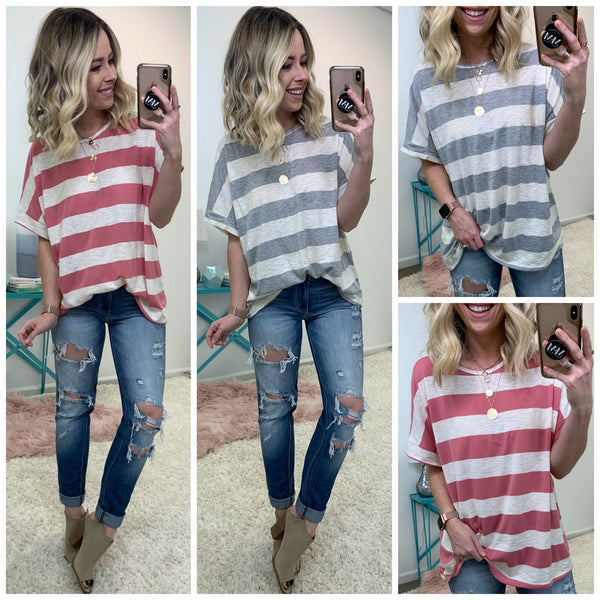 McGraw Striped Top - Madison + Mallory