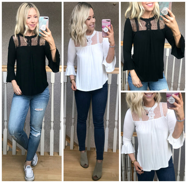 Audrina Lace Top - Madison + Mallory