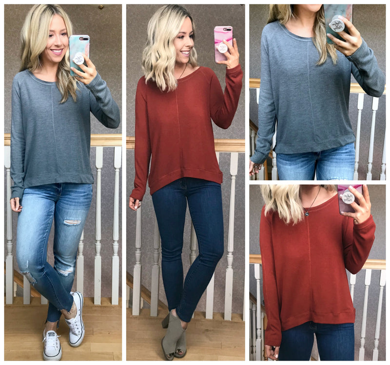 Viri Long Sleeve Knit Top - Madison + Mallory