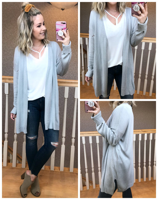 Long Sleeve Knit Cardigan - Madison + Mallory