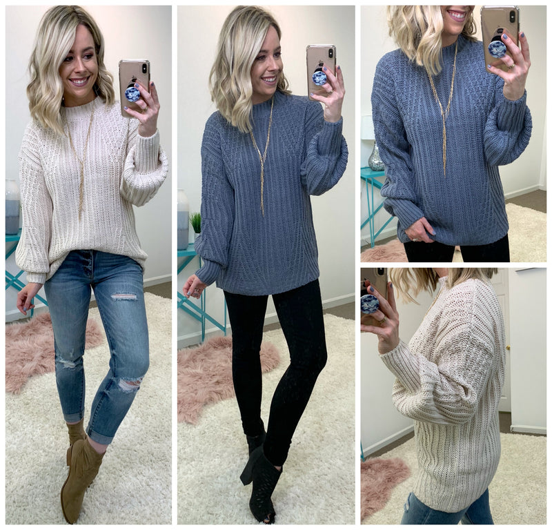 Cadena Crochet Sweater - Madison + Mallory
