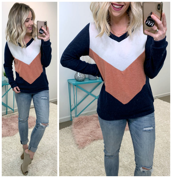 Gotta Have You Color Block Pullover - Madison + Mallory