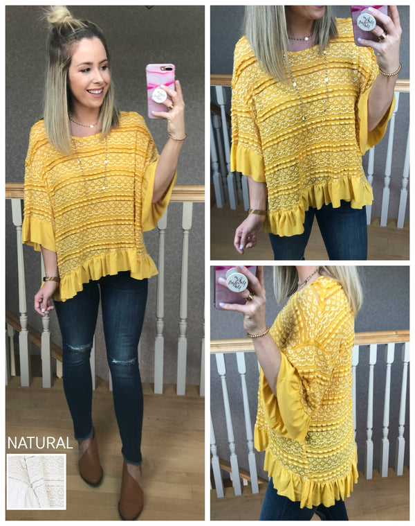 S / Mango Marianna Top - Madison + Mallory