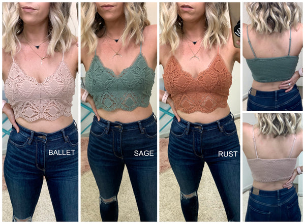 Dream Away Lace Bralette - Madison + Mallory