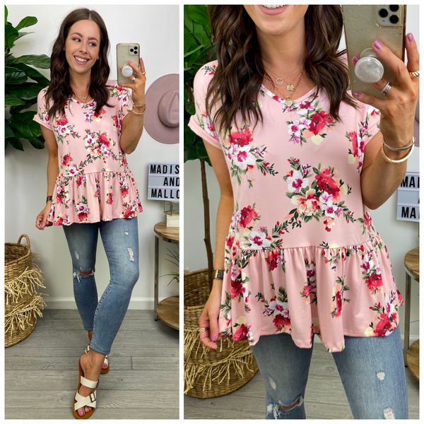 Pick of the Bunch Floral Babydoll Top - Madison and Mallory