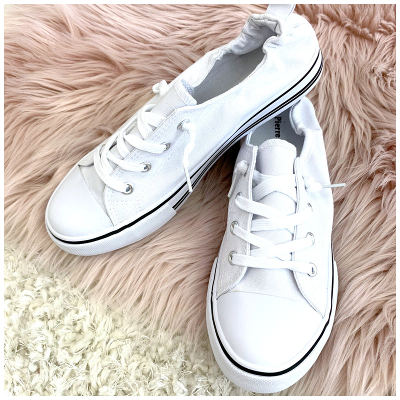 Play it Off Canvas Sneakers - Madison + Mallory
