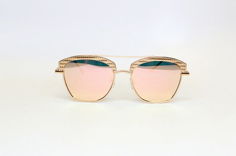 Pink Gold Uptown Girl Sunglasses - Madison + Mallory