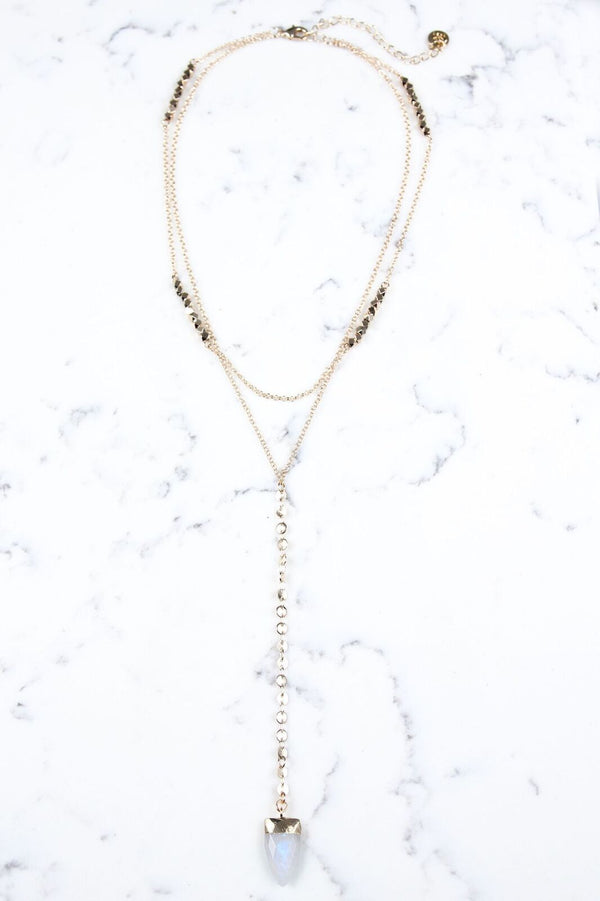 OS / Moonstone Ruby Necklace - Madison + Mallory