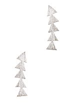 Silver Delicate Triangle Earrings