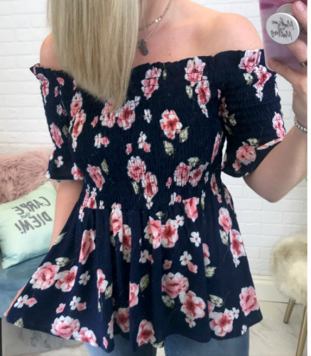 Navy / S Dani Floral Top - Madison + Mallory