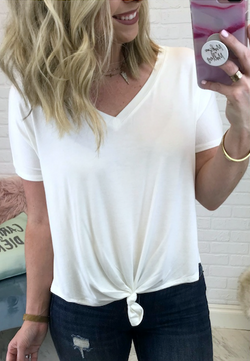 White / S Short Sleeve Relaxed Top - Madison + Mallory