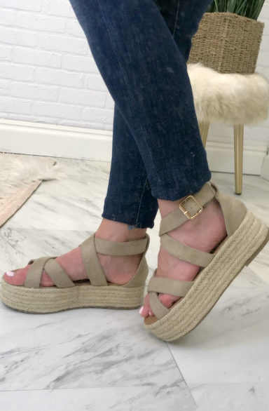 Natural / 6 Espadrille Flatforms - FINAL SALE - Madison + Mallory