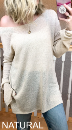 Natural / S Make it Count Knit Sweater - Madison + Mallory