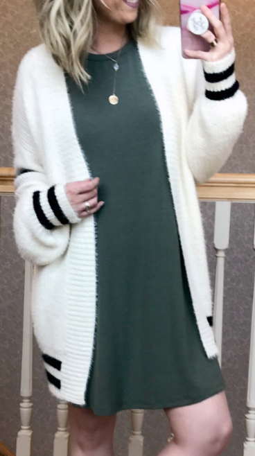 Olive / S Bianca Knit Dress - Madison + Mallory