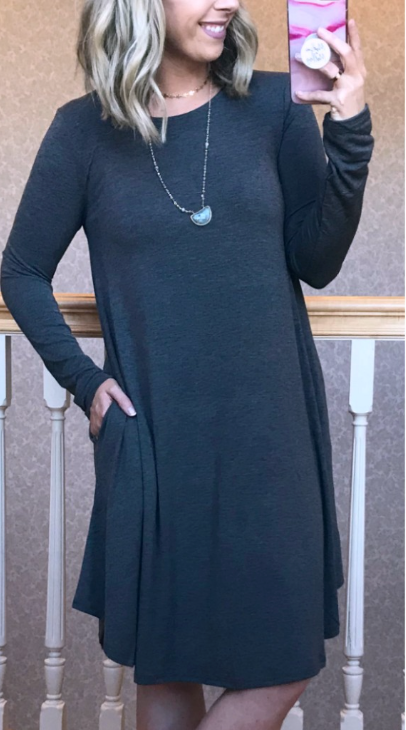 Charcoal / S Miranda A-Line Dress - Madison + Mallory