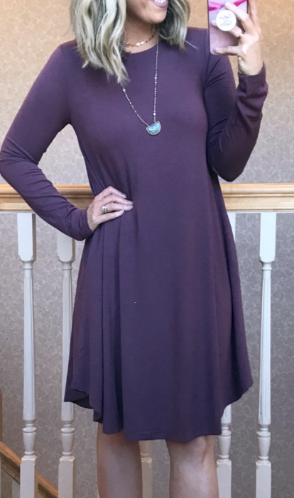 Eggplant / S Miranda A-Line Dress - Madison + Mallory