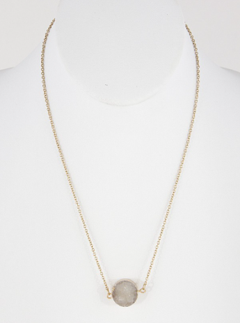 Druzy Daze Necklace - Madison + Mallory