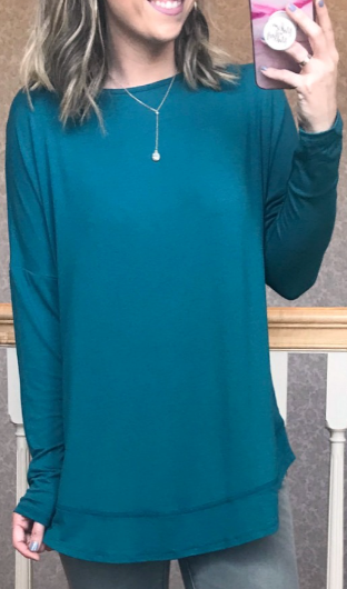 Jade / S Beatrice Cross Back Long Sleeve Top - Madison + Mallory