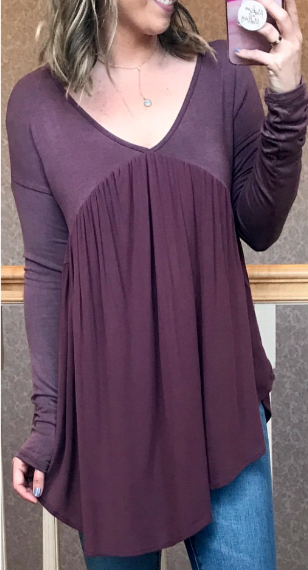 Mauve / S Blithe Mixed Knit Top - Madison + Mallory