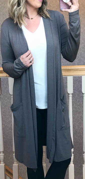 Gray / S Lucia Soft Cardigan - Madison + Mallory