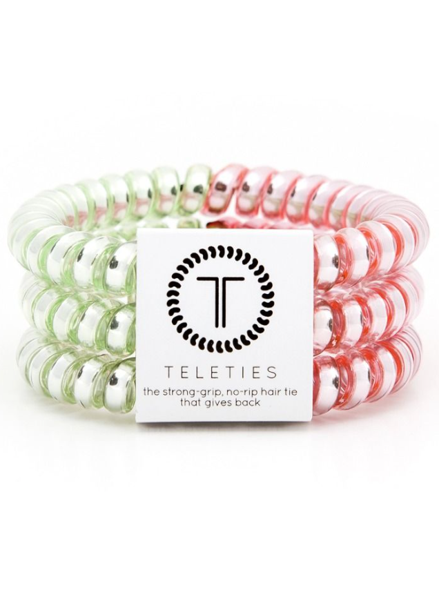 Small / Watermelon TELETIES 3 Pack Small - Madison + Mallory