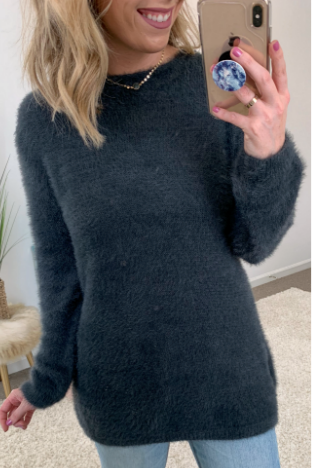 Charcoal / S Bryson Super Soft Sweater - Madison + Mallory