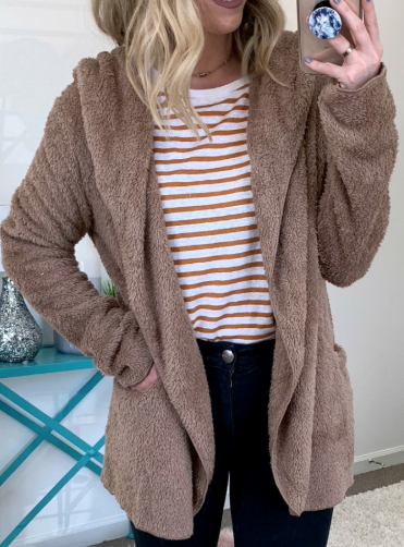 Mocha / SM Copeland Soft Hooded Jacket - Madison + Mallory