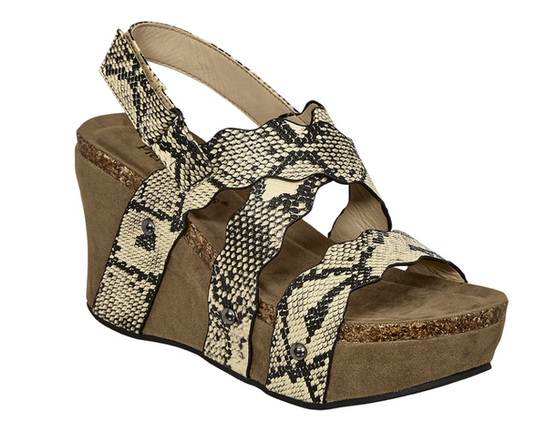 Taya Snake Strappy Wedges - FINAL SALE - Madison and Mallory