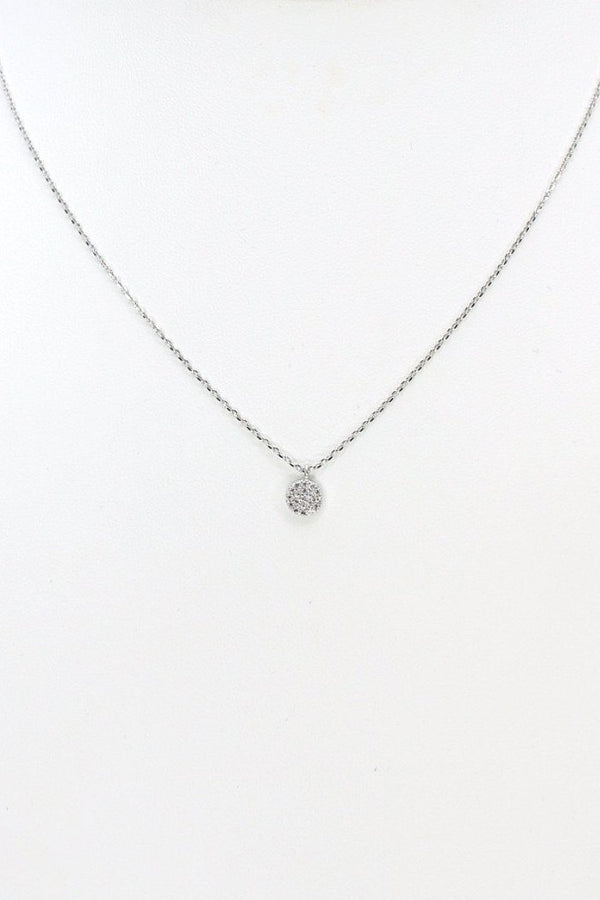 Silver 14KT Silver Disc Necklace - Madison + Mallory