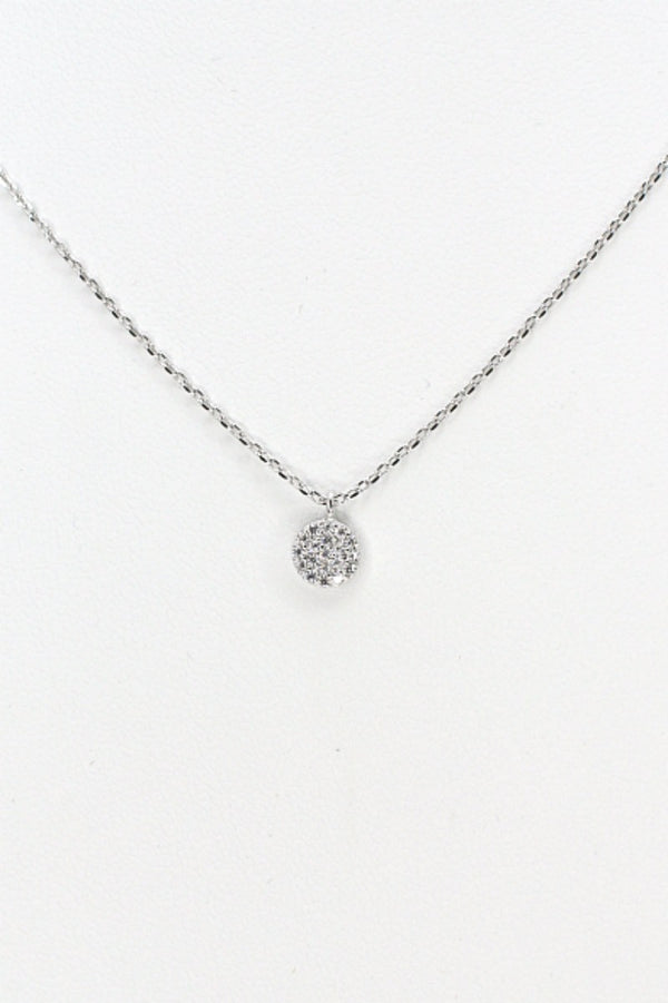 14KT Silver Disc Necklace - Madison + Mallory