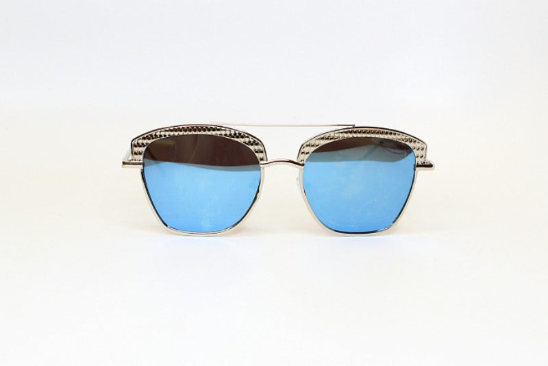 Blue Silver Uptown Girl Sunglasses - Madison + Mallory