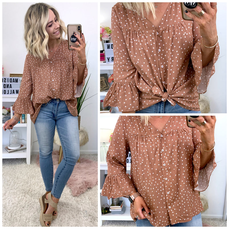 Stellan Bell Sleeve Star Top - Madison + Mallory