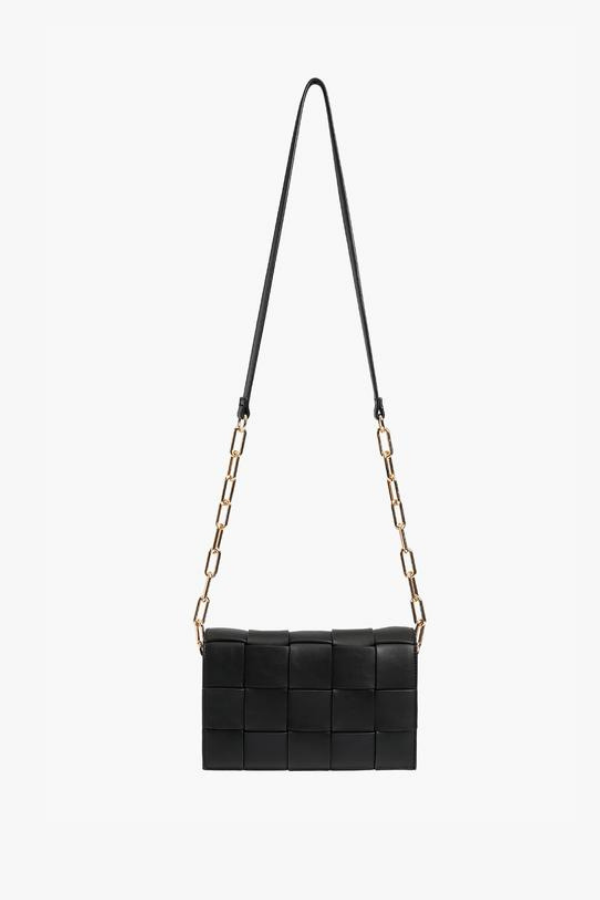 Fresh and Chic Woven Chain Link Crossbody Bag - Madison and Mallory