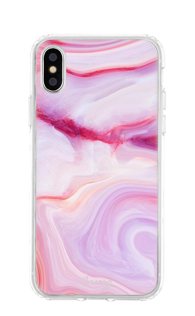 X / Raspberry Marble Raspberry Marble iPhone Case - Madison + Mallory
