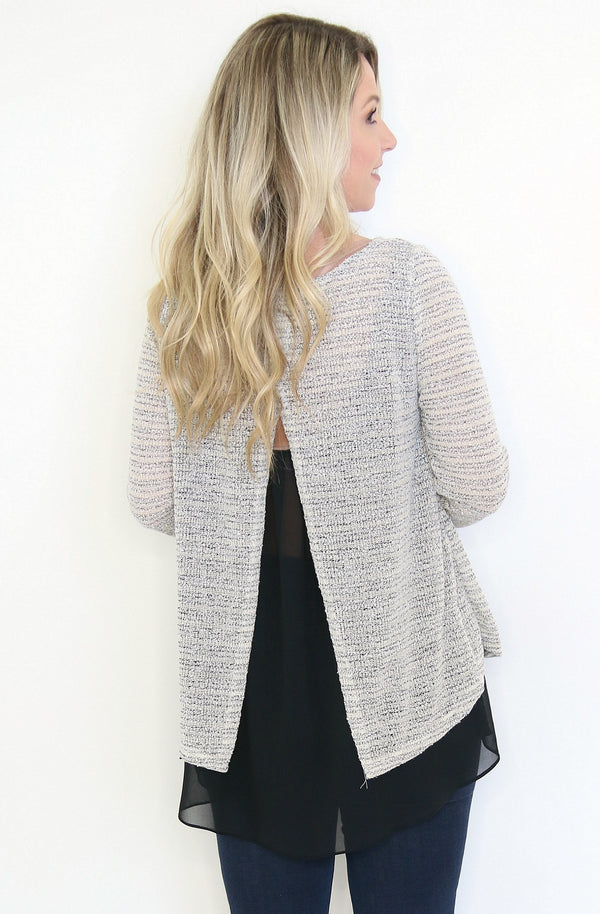 Layered Sweater Top - Madison + Mallory