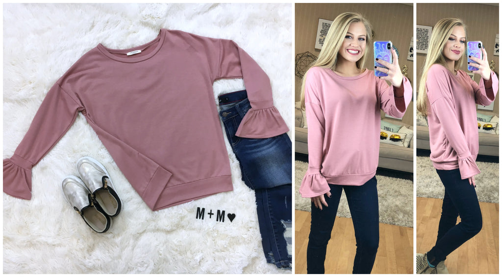 Bell Sleeve Sweatshirt - Madison + Mallory