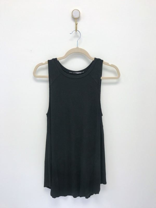 S / Black Sleeveless Knit Tank Top - Madison + Mallory