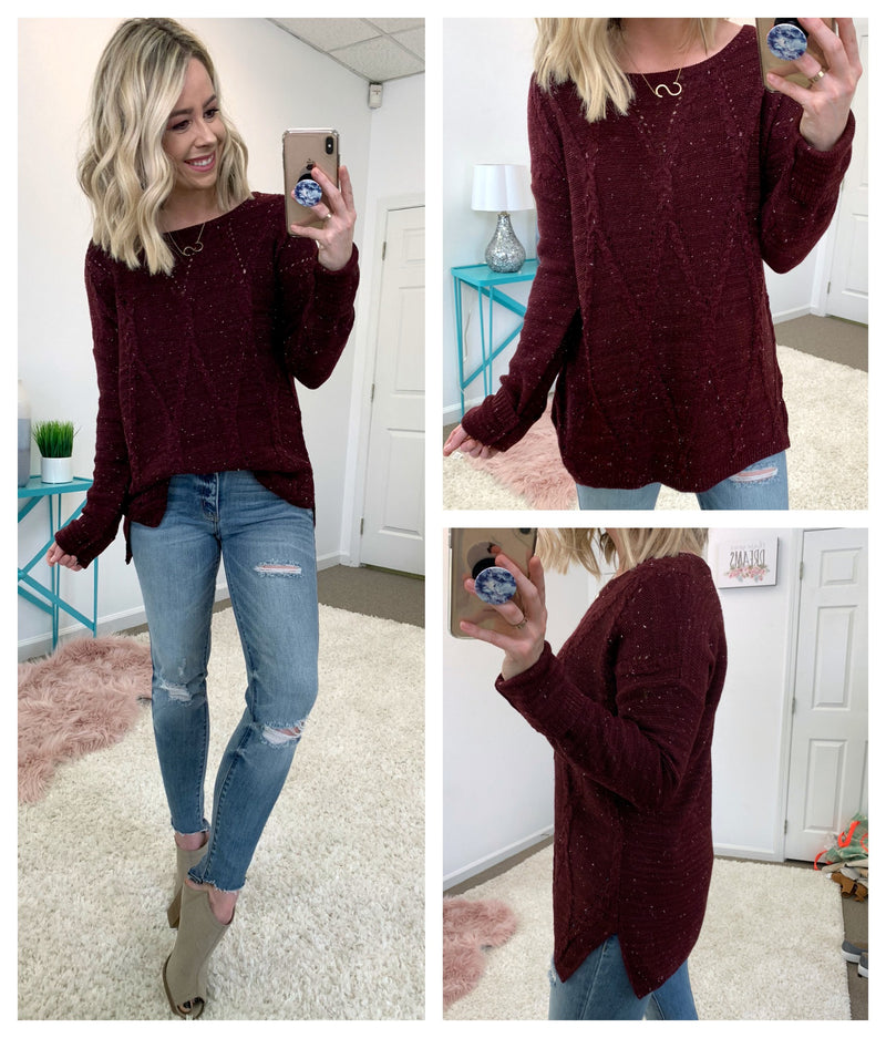 Aquila Cable Knit Sweater - Madison + Mallory