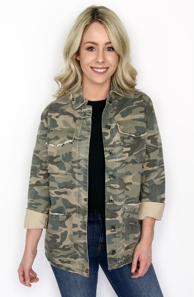 S / Camoflauge Camo Jacket - Madison + Mallory