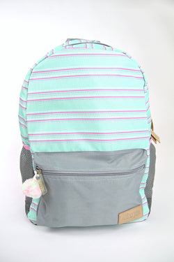 Mint Candy Stripes Backpack - FINAL SALE - Madison and Mallory