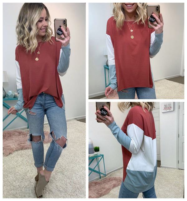 Feel the Rush Color Block Top - Madison + Mallory