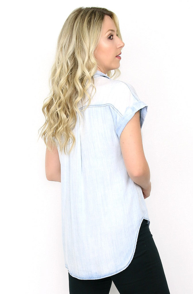 chambray top back