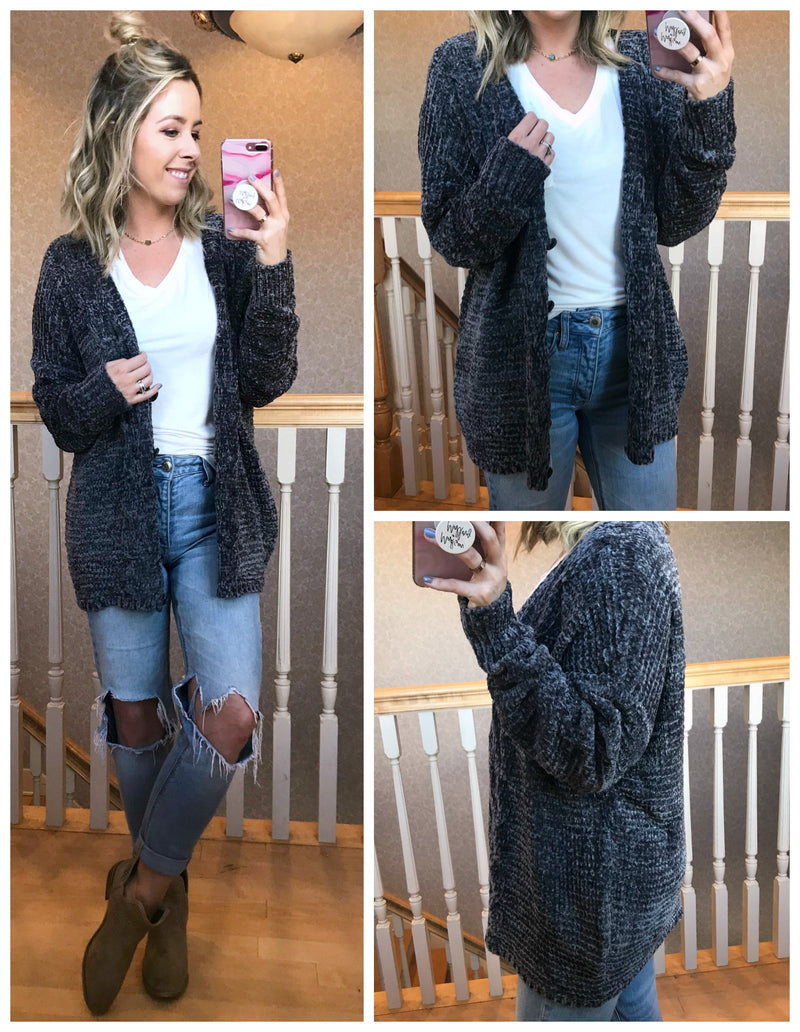 Lillie Chenille Cardigan - Madison + Mallory